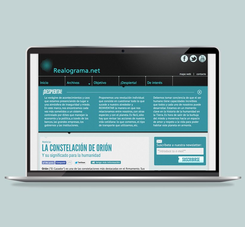 Realograma.net: web design by Asier Reguera